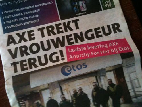 Frontpage Dutch newspaper